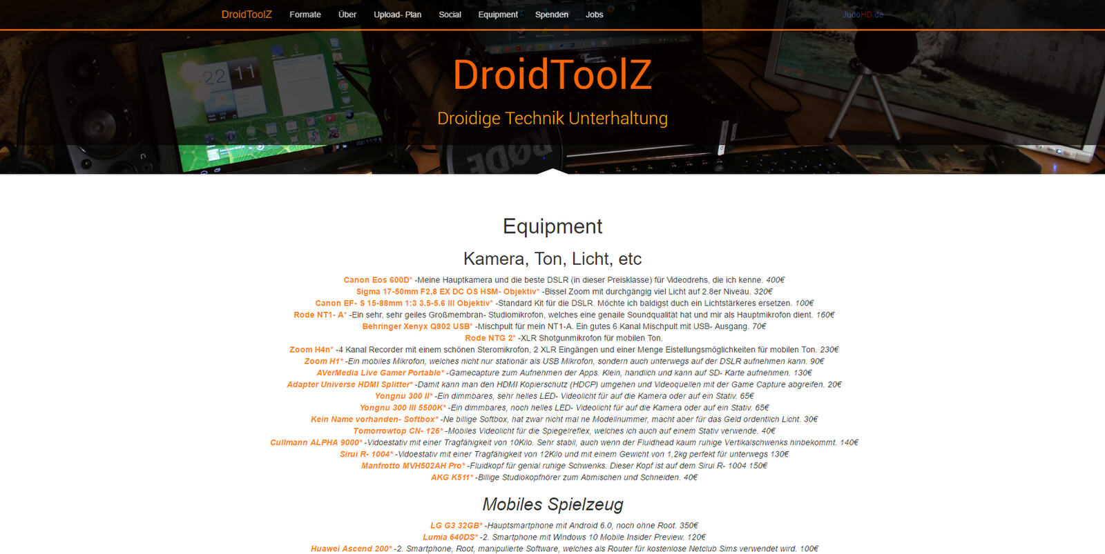 DroidToolZ.de Equipment